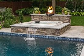 inground pools with waterfalls and hot tubs. Raised Spas: Inground Pools With Waterfalls And Hot Tubs N