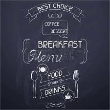 Chalkboard Breakfast Menu Design Chalkboard Menu Template