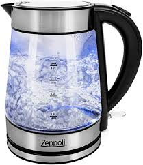 Zeppoli Electric Kettle - Glass Tea Kettle (1.7L) Fast ... - Amazon.com