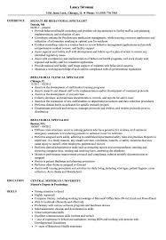 Download Behavioral Specialist Resume Sample as Image file