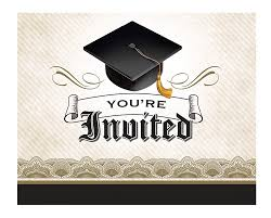 Invitation For Graduation Creative Converting 892216 8 Count Cap And Gown Graduation Invitation Cards Multicolor