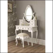 whtiw wooden vanity tables with 7 small drawers for home furniture ideas