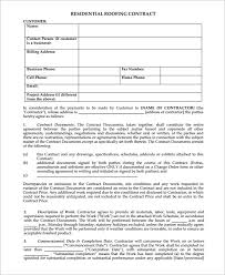 Roofing Contract Template Magnificent Free Residential Roofing Contract Forms Fancy Roofing Contract