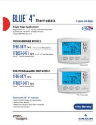 white rodgers thermostats f emerson blue non also see for white rodgers 1f86 0471 emerson blue 4 non programmable single stage thermostat