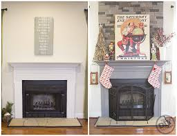 fireplace mantle makeover before and after