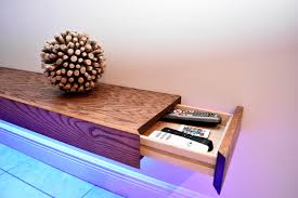 Led Coffee Table Diy 8ft Floating Shelf With Hidden Storage Diy Build Youtube