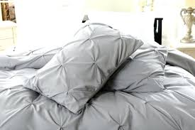 for pillow top pinch pleat design gray bedding set includes comforter and duvet oversized linen cover