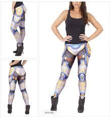 beautiful y lady fashion round table knight 3d digital printing y galaxy leggings