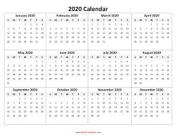 2020 calandars yearly calendar 2020 free download and print