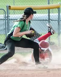 Portage's Abby Alexander slides around Valparaiso's Olivia Vinyard   NWI  Preps Softball   nwitimes.com