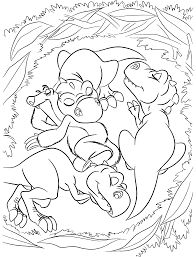 Small Picture Little dinosaurs from Ice age coloring pages for kids printable