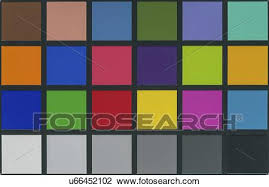 Colour Calibration Chart For Photography Stock Image