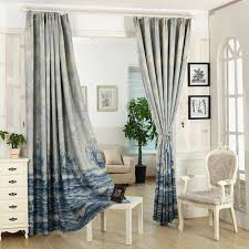 Sears Bedroom Curtains Pureaqu Sea Sailing Boat Curtains For Kids Bedding Room Curtain