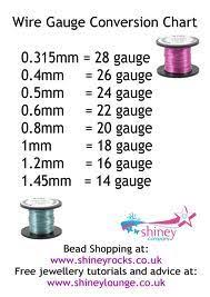 59 Meticulous Wire Gauge Chart For Beading