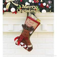 Yefree Weihnachtsstrümpfe Socken Tasche Personalisierte