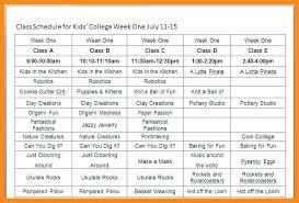 11 12 College Course Schedule Template Lascazuelasphilly Com