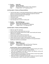 Subway Job Description Resume 18