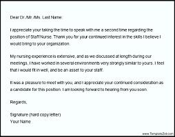 Thank You Letter After Nursing Interview Templatezet