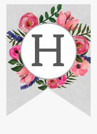 Printable Letter For Banners Flower Banner Alphabet Letters Free Printable H Printable
