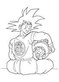Small Picture Dragon Vall Goku and Gohan Coloring Pages Coloring Page