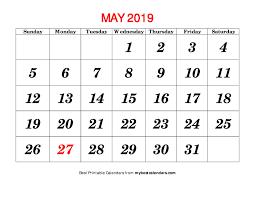 May Blank Calendars May 2019 Printable Calendar Blank Templates Holidays