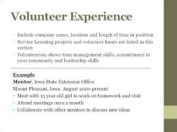 Volunteer Work On Resume Example Resume Examples With Volunteer Enchanting Resume Volunteer Experience