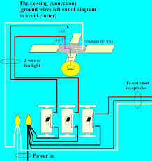 ceiling fan light switch 3 wires lights decoration how to wire a ceiling fan to a wall switch at Installing A Ceiling Fan Wiring Diagram