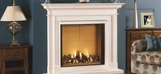 real flame gas fire with fireplace in surrey showroom