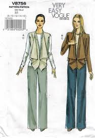 Vogue Pattern Adorable Vogue Pattern 448 Very Easy Vogue Fashion Jacket Pattern Sizes 48
