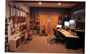 basement ideas for men. 2016 Small Man Cave Ideas Basement For Musician With Guitar Collection On The White Wall Men