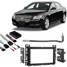amazon com fits chevy malibu 2008 2012 double din stereo harness  at 2012 Silverado Stereo Wiring Harness Available Nearby