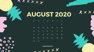 45+] August 2020 Calendar Wallpapers on ...