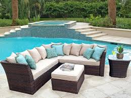 resin wicker furniture. Sectional Outdoor Furniture Patio With Extender Replacement Cushions . Resin Wicker P