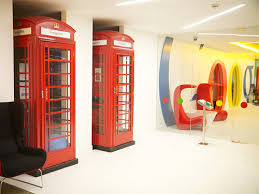 google inc office. red telephone booth in office google search design pinterest and designs inc d