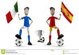 Italy vs Spain stock illustration ...