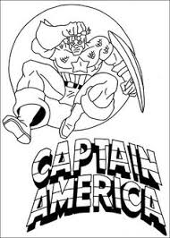 Small Picture Captain America Coloring Pages Preschool Theme Superheroes