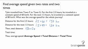 2 1 1 find average sd given two rates and two times word problem you