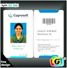 company id card templates company id template