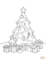 christmas tree with presents coloring pages.  Presents Click The Christmas Tree With Presents Coloring Pages  Throughout With Coloring Pages E