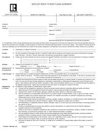 Month To Month Rental Agreement Template Kentucky Month To Month Rental Agreement Template With