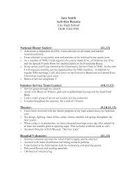 Resume Extracurricular Activities Sample Extra Curricular Activities In Resume Sample 24 Samples Template 14