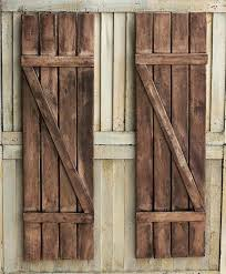 diy exterior wood shutters rustic window