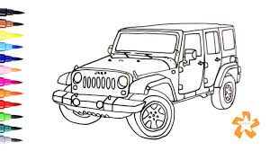Small Picture Cars How to draw Jeep Wrangler Coloring Pages For Children