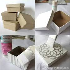 Paper Mache Boxes To Decorate How to Make Decorative Storage Boxes Decorative storage boxes 8