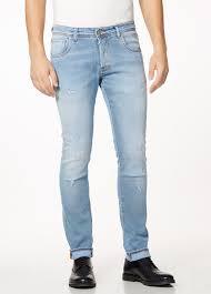 Light Jeans Light Slim Fit Jeans With Scratches Shop Online Liu Jo