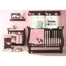 pink elephant 4 piece crib bedding set bed bath beyond and nursery sets