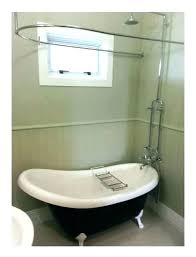 free standing shower curtain for freestanding tub rail bath rails baths net rod clawfoot kit hom