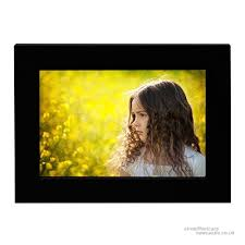 bojin 6x8 inch black wooden photo frame picture frame without mat non glass screen wall mounting