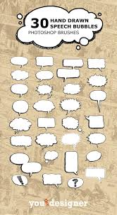 Photoshop Speech Bubble 30 Hand Drawn Speech Bubble Photoshop Brushes