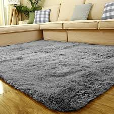 stay young large size 4 feet x 5 feet 45cm thick decorative modern shaggy area rug super soft silky bedroom living room sitting room carpet non slip bedroom large size living
